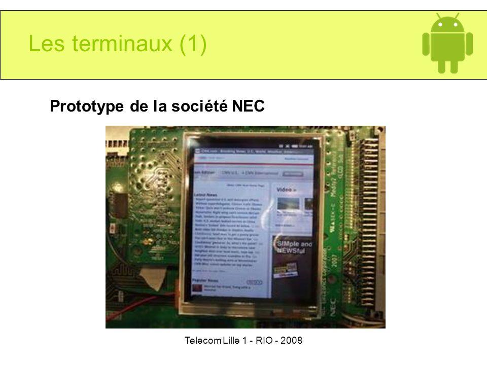 Les terminaux (1) Prototype de la société NEC