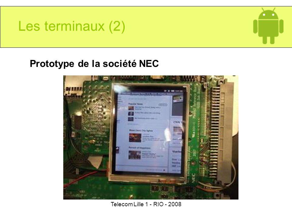 Les terminaux (2) Prototype de la société NEC