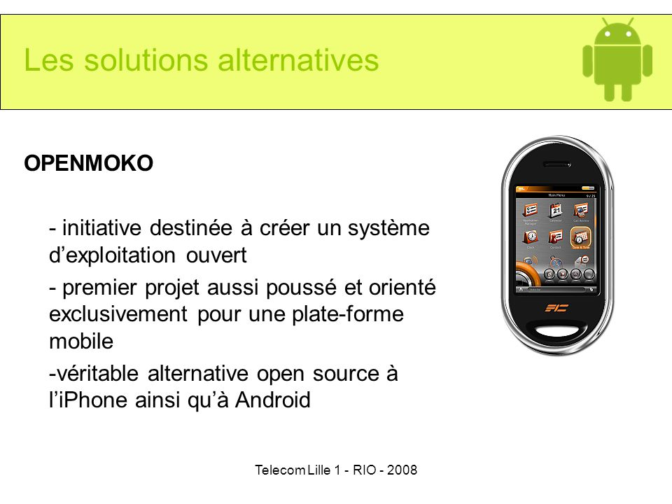 Les solutions alternatives