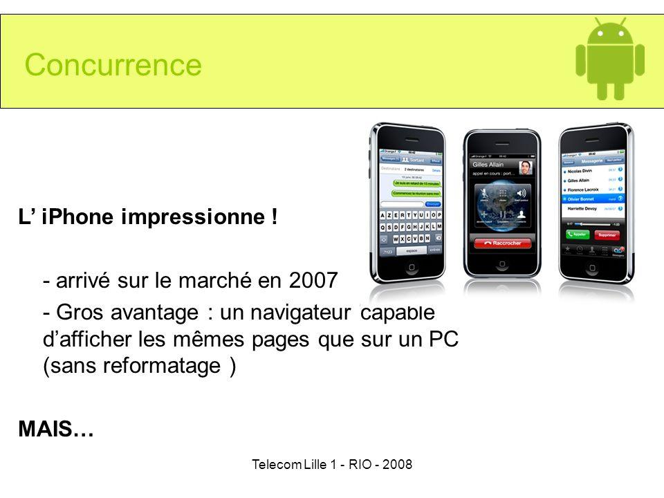 Concurrence L' iPhone impressionne ! - arrivé sur le marché en 2007