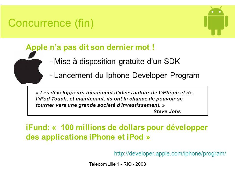 Concurrence (fin) Apple n'a pas dit son dernier mot !