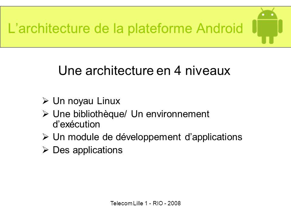 L'architecture de la plateforme Android