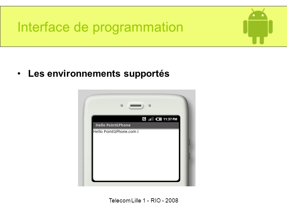 Interface de programmation