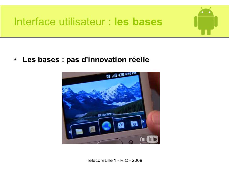 Interface utilisateur : les bases