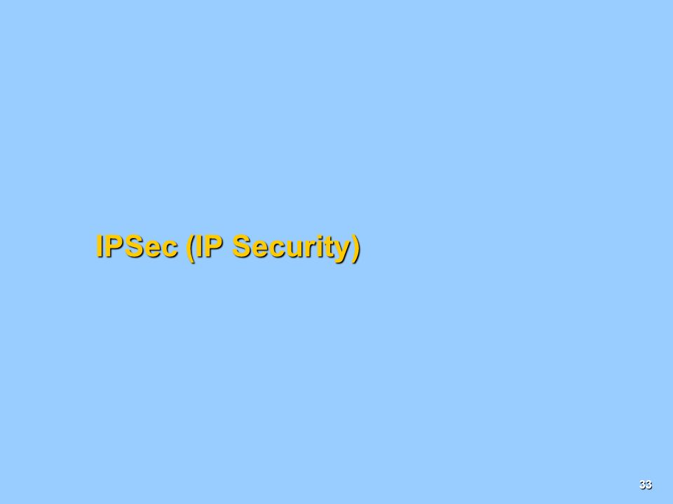 IPSec (IP Security)