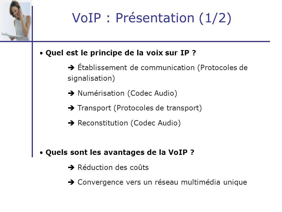 VoIP : Présentation (1/2)