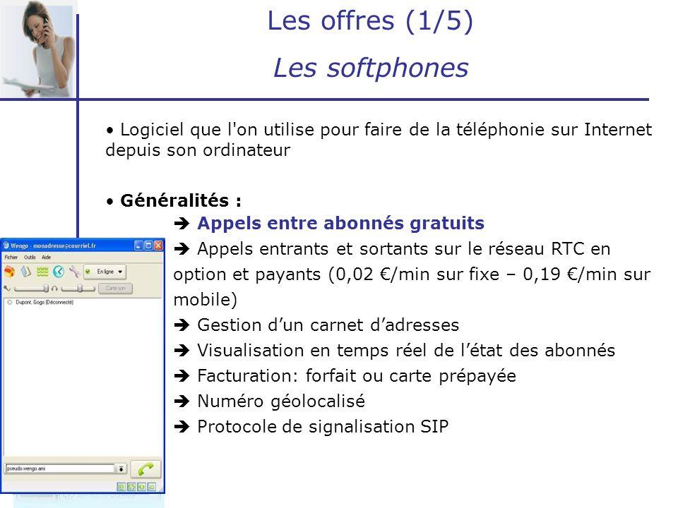 Les offres (1/5) Les softphones