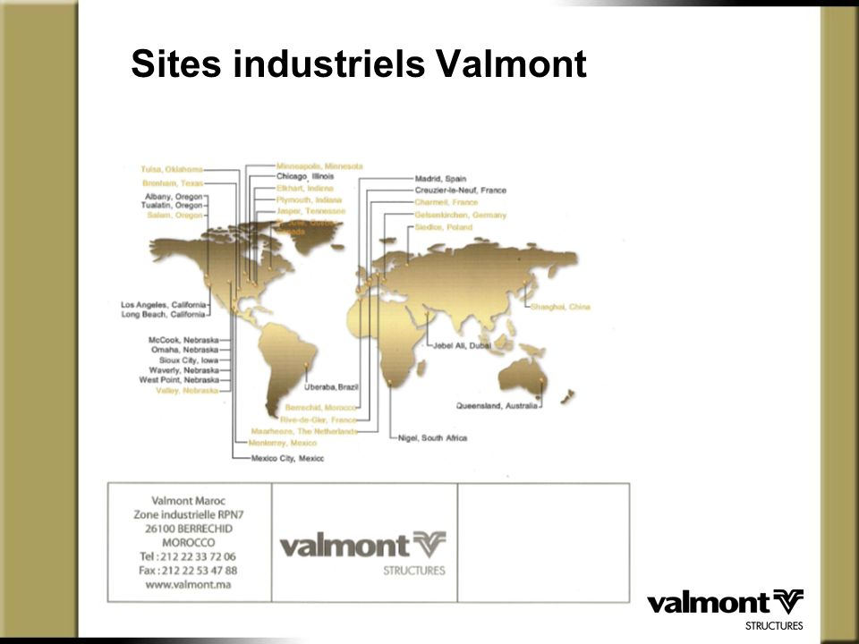 Sites industriels Valmont