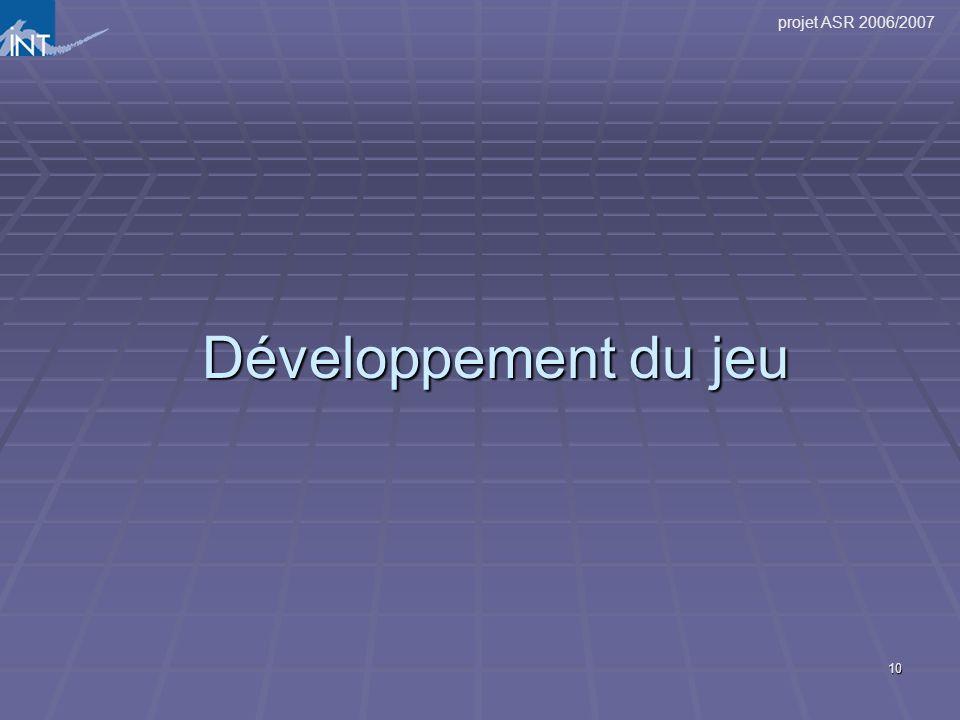 Développement du jeu