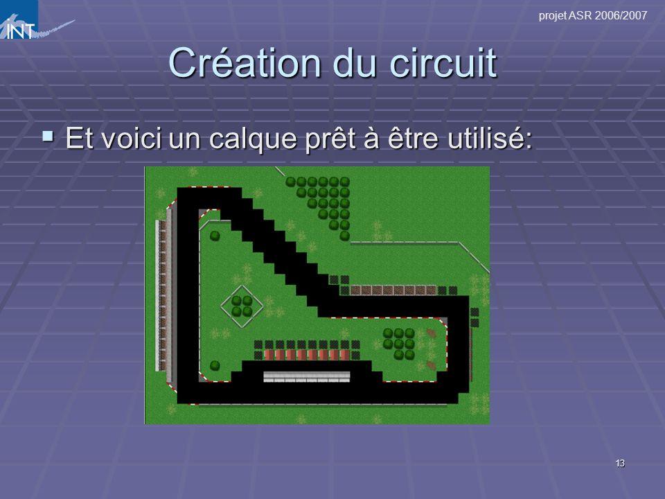 Création du circuit Et voici un calque prêt à être utilisé: