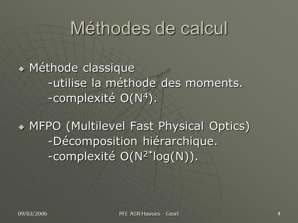Méthodes de calcul Méthode classique -utilise la méthode des moments.