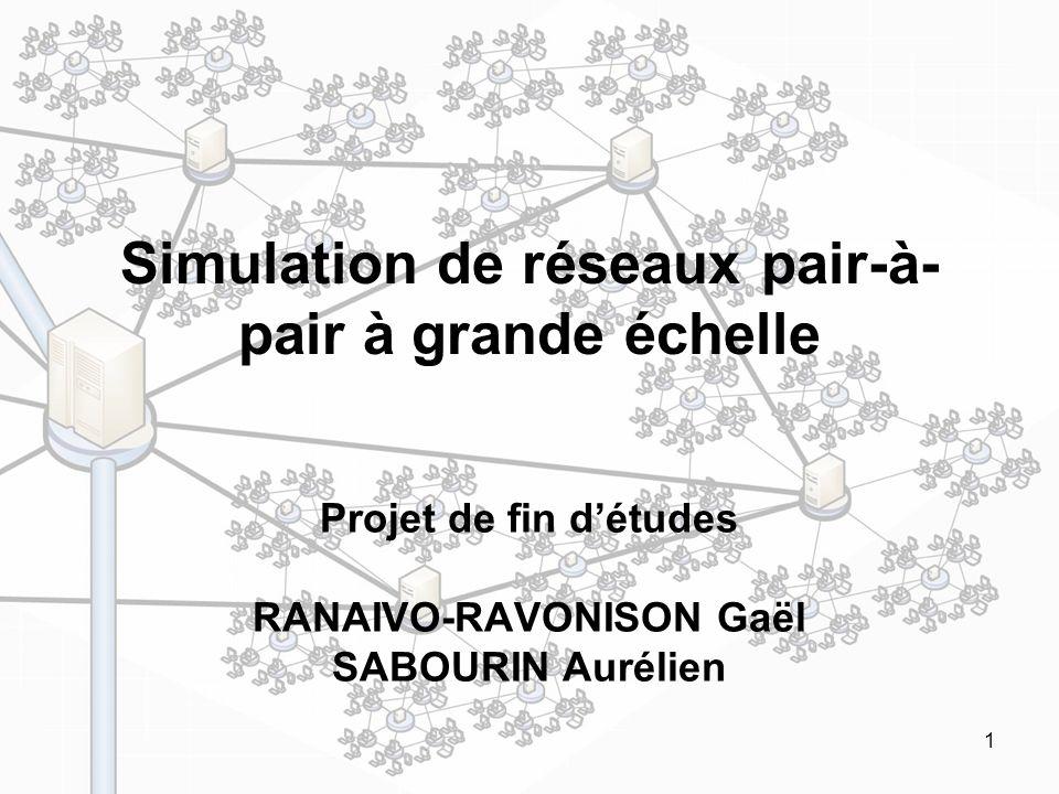 Simulation de réseaux pair-à-pair à grande échelle