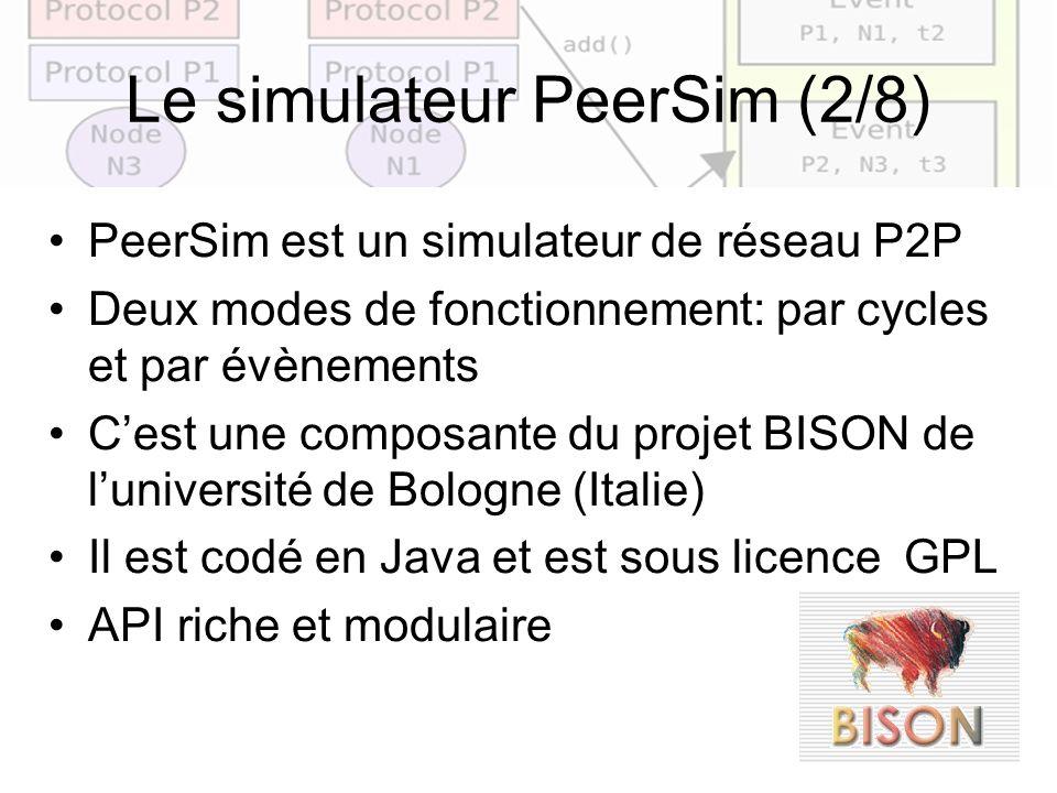 Le simulateur PeerSim (2/8)