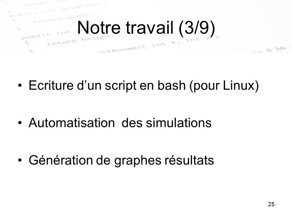Notre travail (3/9) Ecriture d'un script en bash (pour Linux)