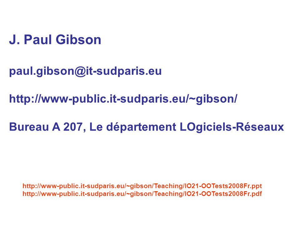J. Paul Gibson paul.gibson@it-sudparis.eu