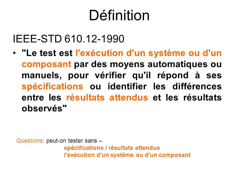 Définition IEEE-STD 610.12-1990.