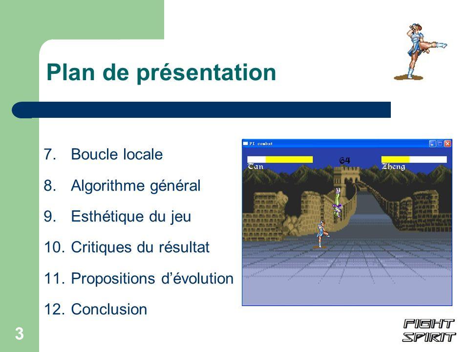 Plan de présentation 7. Boucle locale 8. Algorithme général