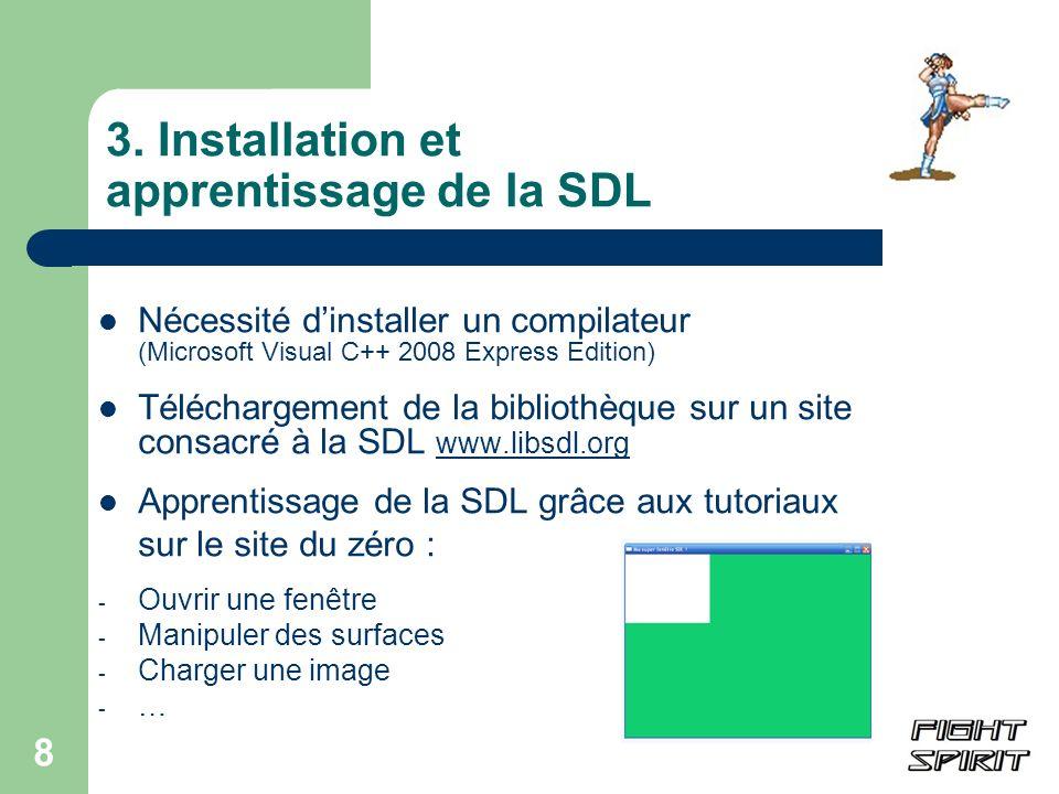 3. Installation et apprentissage de la SDL
