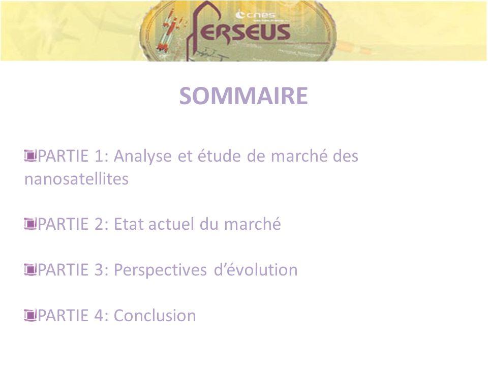 SOMMAIRE PARTIE 1: Analyse et étude de marché des nanosatellites