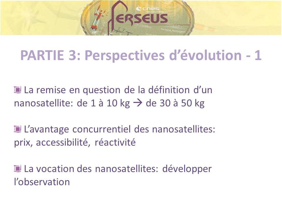 PARTIE 3: Perspectives d'évolution - 1
