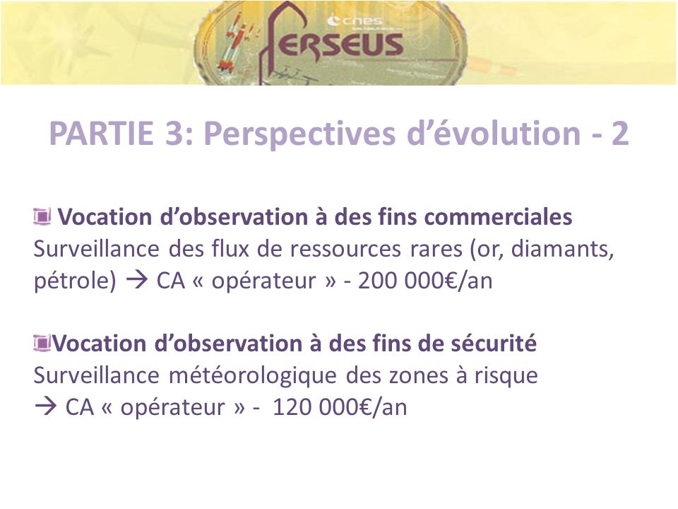 PARTIE 3: Perspectives d'évolution - 2