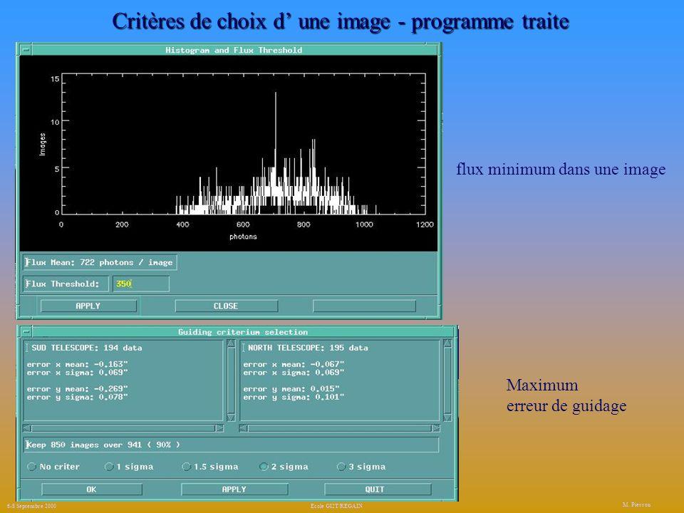 Critères de choix d' une image - programme traite