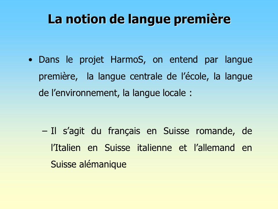La notion de langue première
