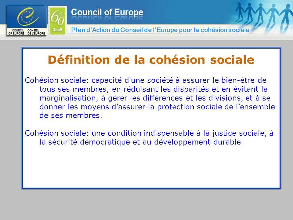 Définition de la cohésion sociale