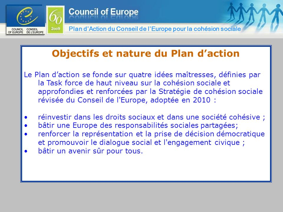 Objectifs et nature du Plan d'action