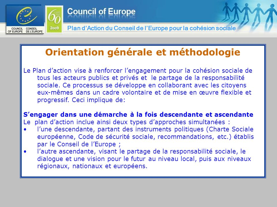 Orientation générale et méthodologie