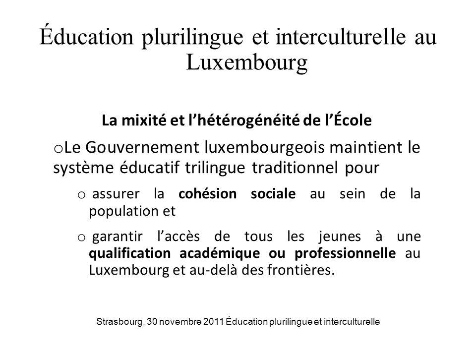 Éducation plurilingue et interculturelle au Luxembourg