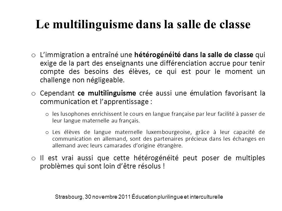 Le multilinguisme dans la salle de classe