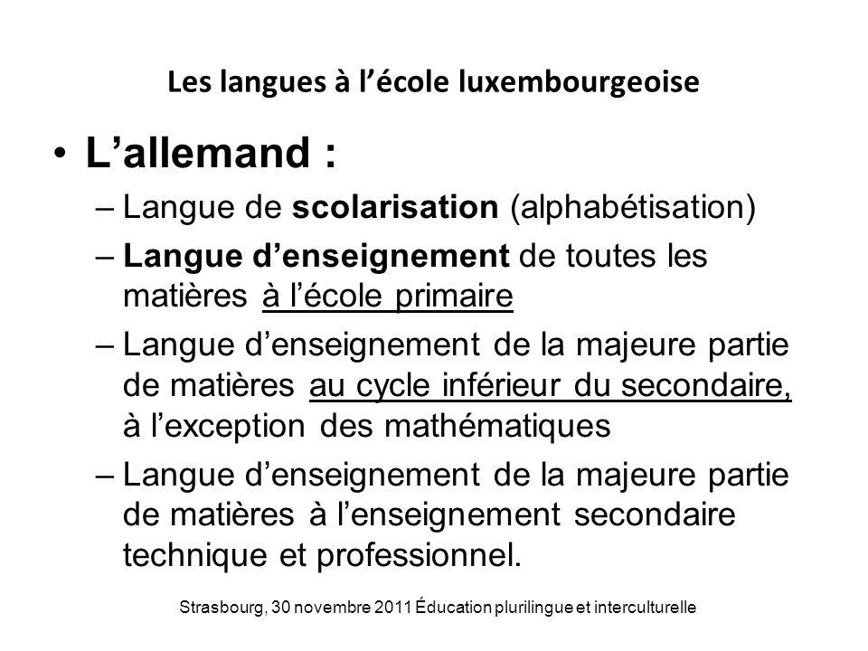 Les langues à l'école luxembourgeoise
