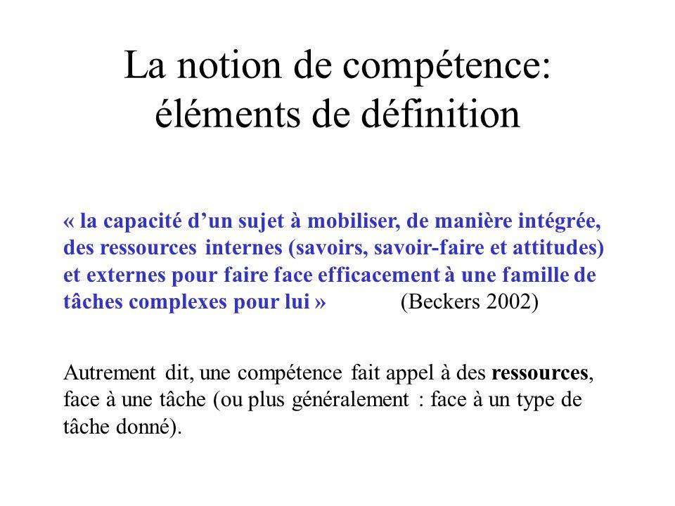 La notion de compétence: éléments de définition