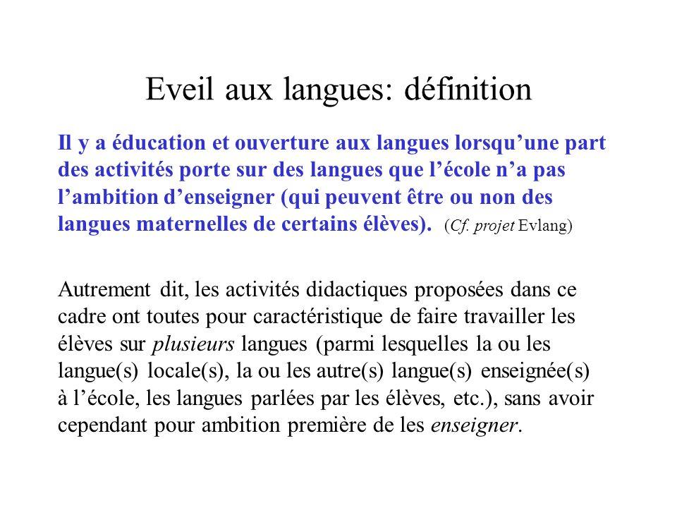 Eveil aux langues: définition