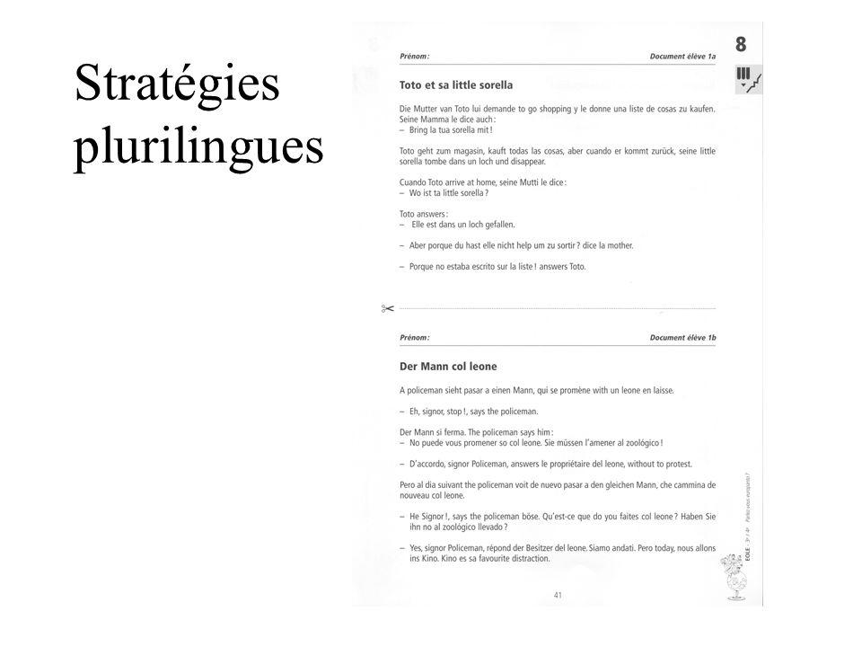 Stratégies plurilingues