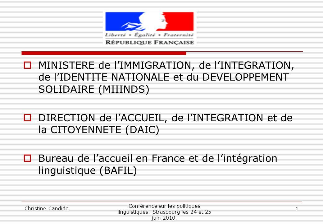 DIRECTION de l'ACCUEIL, de l'INTEGRATION et de la CITOYENNETE (DAIC)