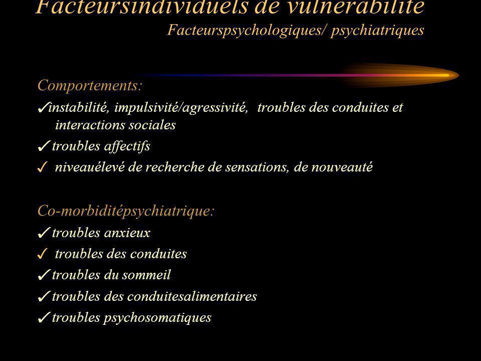 Facteursindividuels de vulnérabilité