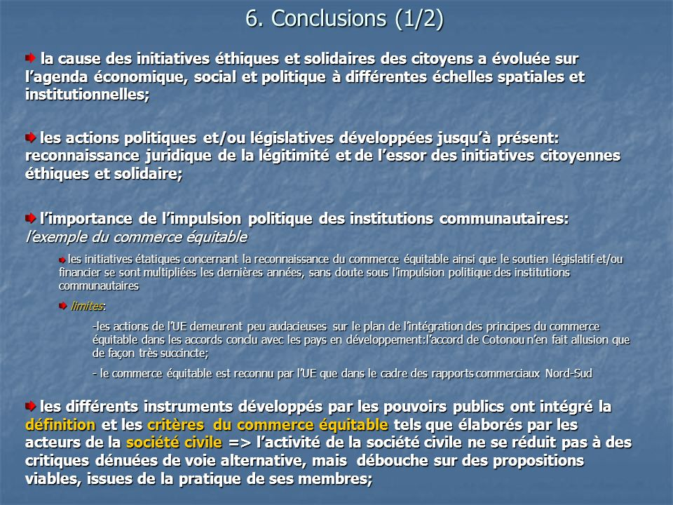 6. Conclusions (1/2)