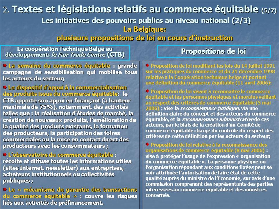 2. Textes et législations relatifs au commerce équitable (5/7)