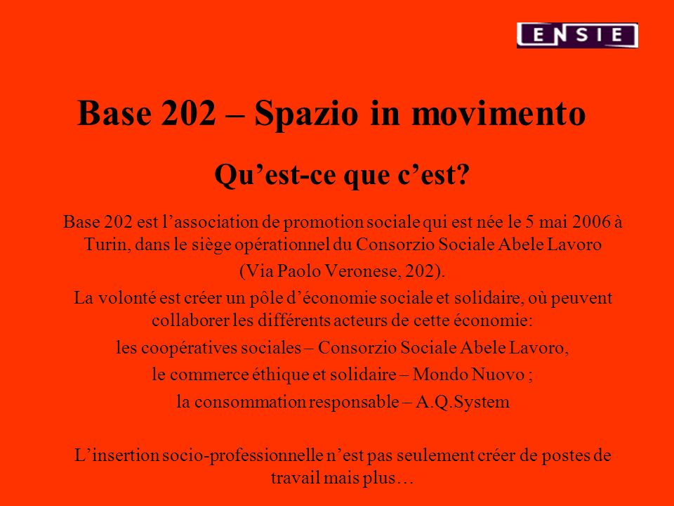 Base 202 – Spazio in movimento
