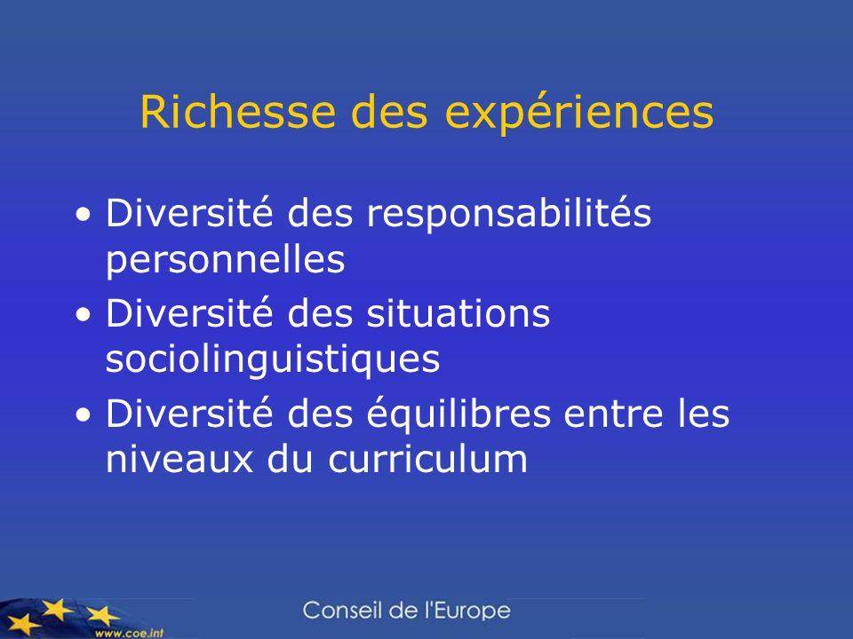 Richesse des expériences