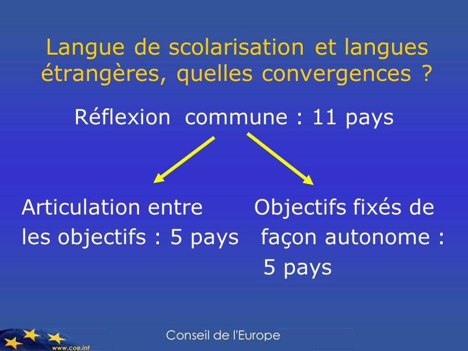 Langue de scolarisation et langues étrangères, quelles convergences