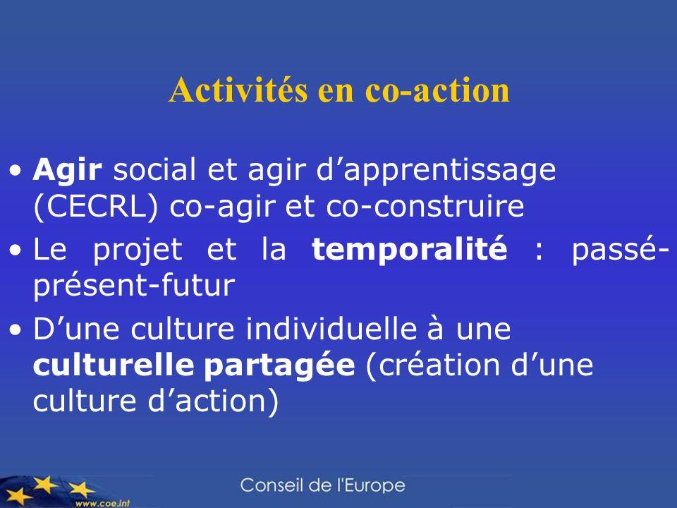 Activités en co-action