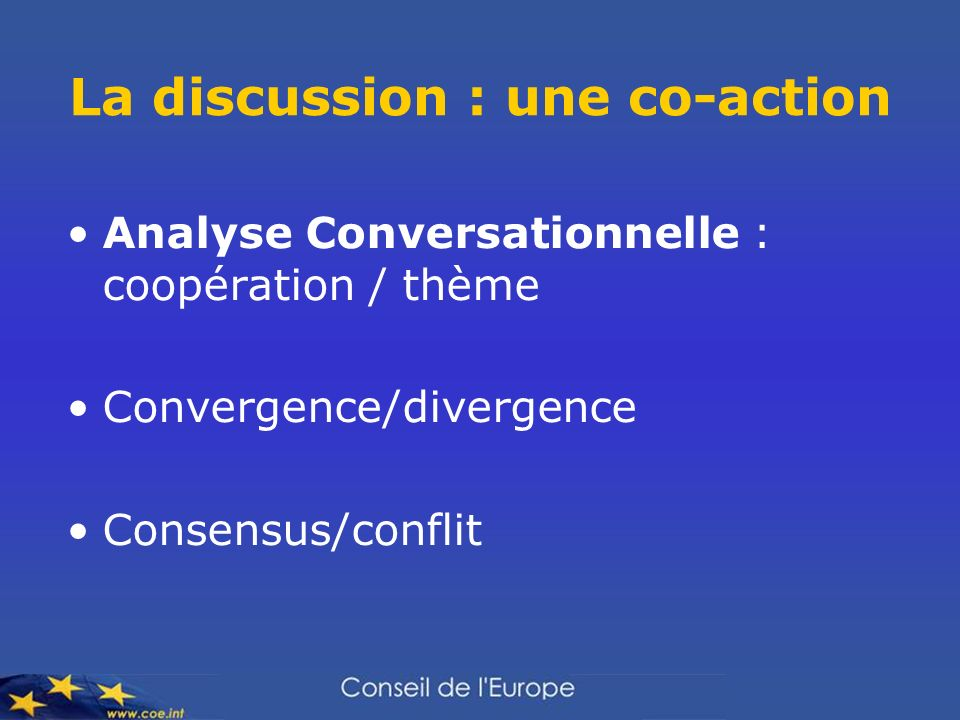La discussion : une co-action