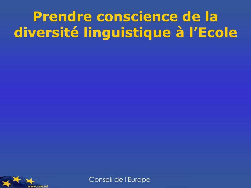 Prendre conscience de la diversité linguistique à l'Ecole
