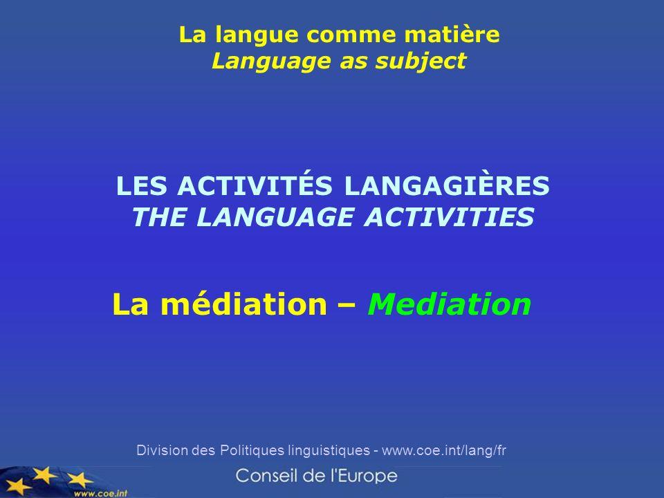 La médiation – Mediation