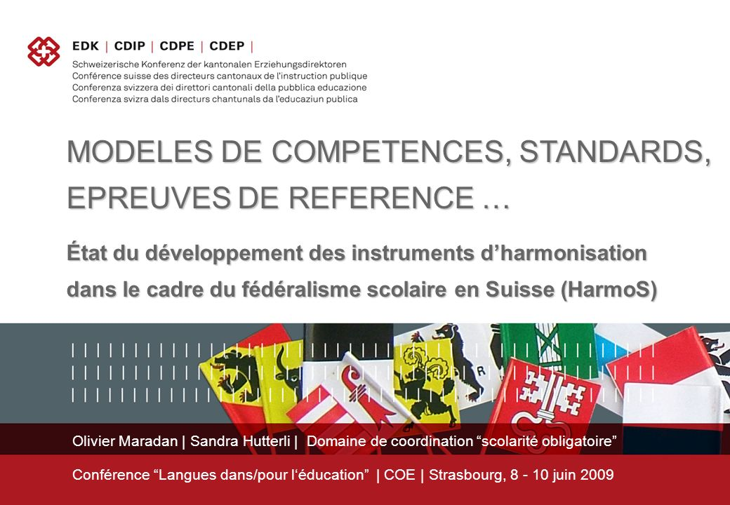 MODELES DE COMPETENCES, STANDARDS, EPREUVES DE REFERENCE …