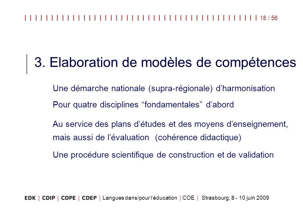 3. Elaboration de modèles de compétences