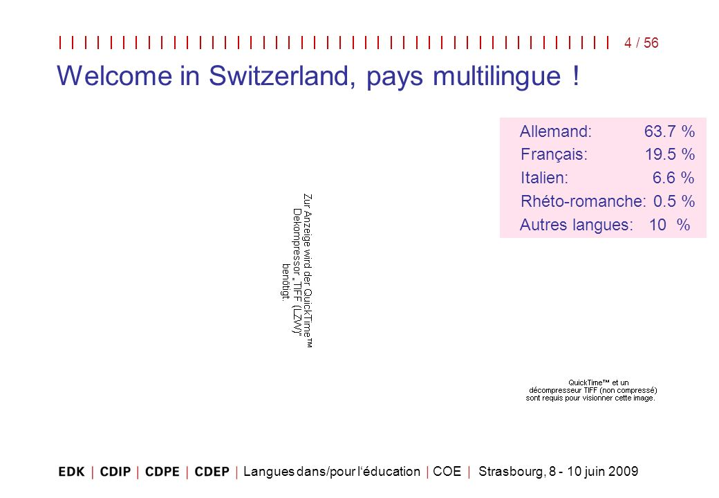 Welcome in Switzerland, pays multilingue !